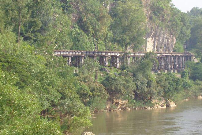 Tham Kra Sae Bridge, Sai Yok, Thailand