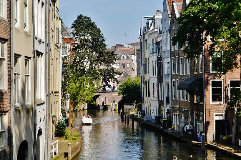 Canals area, Utrecht, Holland