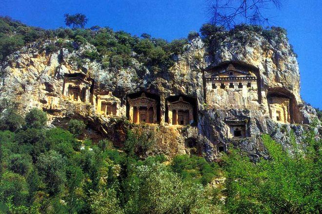 Carian rock tombs, Marmaris, Turkey