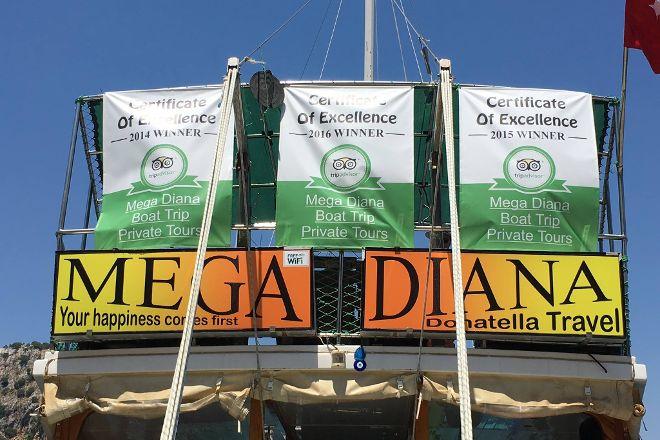 Mega Diana Boat Trip-Tours, Marmaris, Turkey