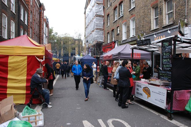 Leather Lane Market, London, United Kingdom