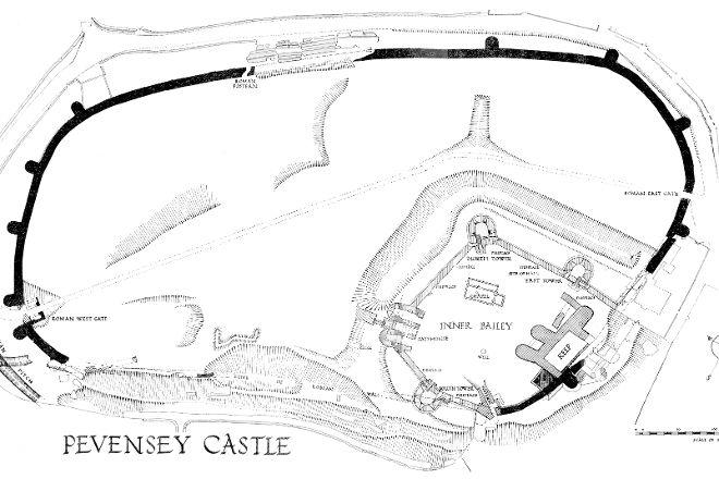 Pevensey Castle, Pevensey, United Kingdom