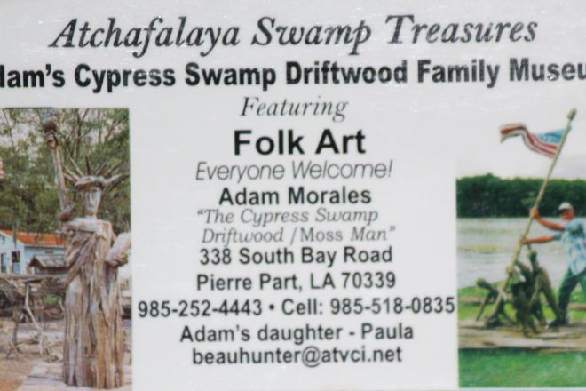 Adam's Cypress Swamp Driftwood Family Museum and Art Gallery, Pierre Part, United States