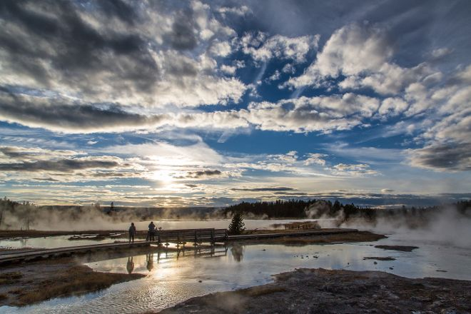 Firehole Lake Drive, Yellowstone National Park, United States