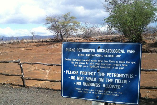 Puako Petroglyph Archaeological Preserve, Island of Hawaii, United States