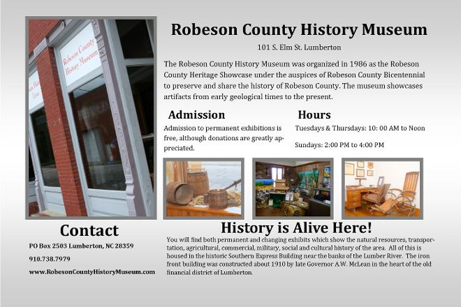 Robeson County History Museum, Lumberton, United States