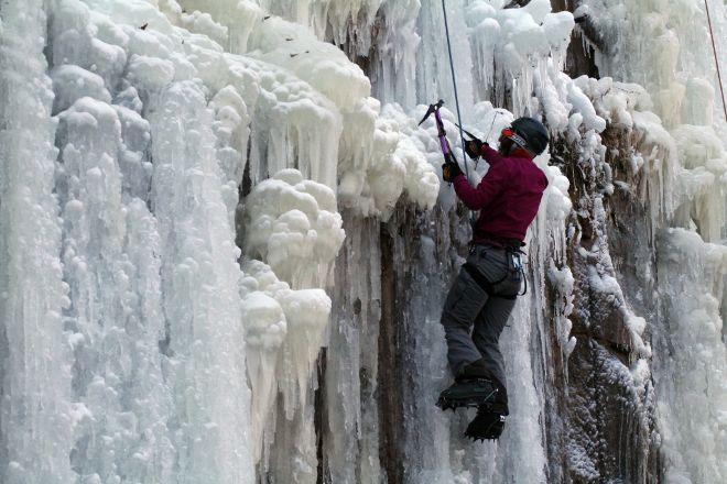 Robinson Quarry Ice Park, Sandstone, United States