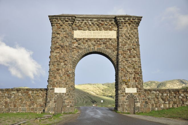 Roosevelt Arch, Yellowstone National Park, United States
