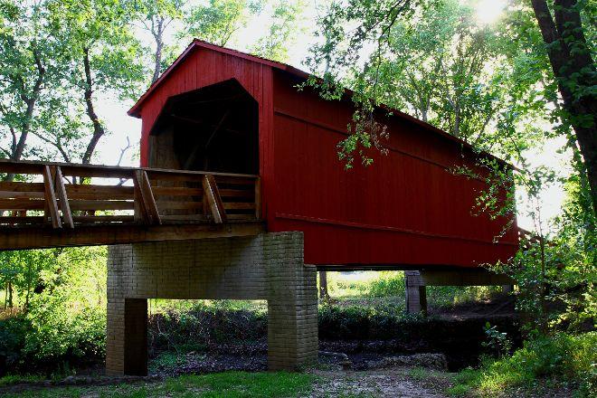 Sugar Creek Covered Bridge, Glenarm, United States