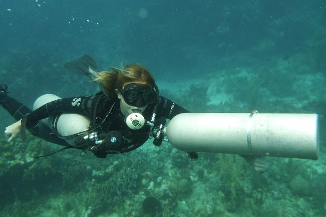 Valentine scuba divers, Freeport, United States