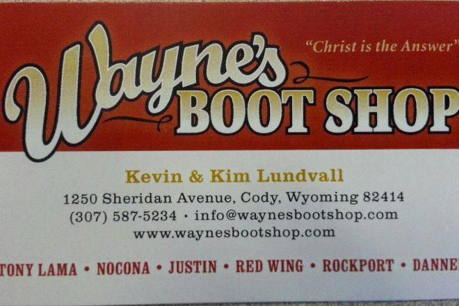Wayne's Boot Shop, Cody, United States