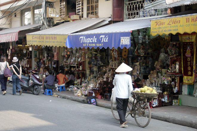 Hang Quat Street (Street of Fans), Hanoi, Vietnam